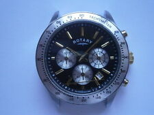 Gents wristwatch ROTARY CHRONOGRAPH quartz watch working need service VD53B