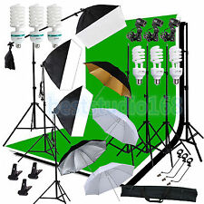 Photo Studio Softbox Umbrella Continuous Lighting Boom arm Backdrop Light Stand