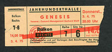 1975 Genesis concert ticket stub Frankfurt Lamb Lies Down Broadway Peter Gabriel