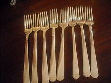 1881 Rogers Surf Club Luncheon Grille silverplate forks EIGHT