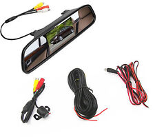 Car SUV 170 Degree Waterproof Video Camera and 4.3 Inch LCD Review Mirror Screen
