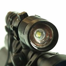 CREE XML T6 Tactical Flashlight Light ZOOMABLE Scope Mount For Hunting Air Rifle