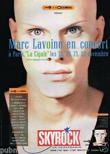 Publicité advertising 1987 Concert marc Lavoine à Paris la Cigale