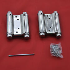 "A pair 3"" Double Action Spring Hinge Cafe Saloon Door Hinge Swing Free Door"