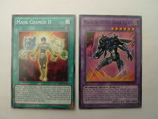 Masked Hero Dark Law + Mask Change II * 2 Card SDHS Set * Yu-gi-oh