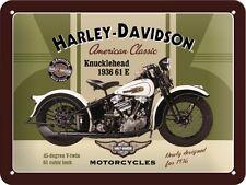 HARLEY DAVIDSON KNUCKLEHEAD * MOTORRAD * BLECHSCHILD * NOSTALGIE * 15X20 * NEU!