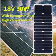 30W 18V Semi Flexible Monocrystalline Solar Panel Battery Charger For RV Boat