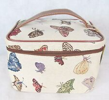 Butterfly design on Beige Tapestry Vanity Case  Signare