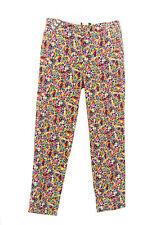 TopShop Women's Multi-Color Floral Print Capri Pants US Size 2 UK 6 36C05B NWOT