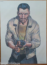 Vintage Police Law Enforcement Police Shooting Target Poster 1995 Artist = Malik