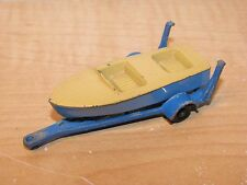 Matchbox Lesney No.48 Meteor Sportsman MKII MK II 2 Speed Boat and Trailer