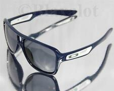 NEW OAKLEY DISPATCH II SUNGLASSES Navy/White frame w/Silver O Icons / Grey lens