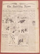 3-26-58 SPORTING NEWS WORLD CHAMP MILWAUKEE BRAVES FEATURED ON PAGE THREE