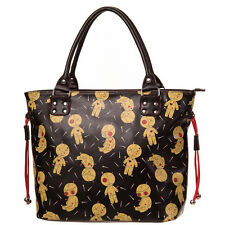 Banned Apparel Distractions Tote Black Voodoo Dolls Goth Nugoth