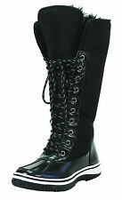 New Women's Knee High Boot Black Shoes Fur Lined Winter Snow Ladies size 7.5