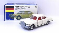 MADE IN JAPAN TOMY TOMICA F7 MERCEDES BENZ 450 SEL CLASSIC WHITE 1/67 DIECAST