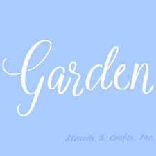 GARDEN STENCIL STENCILS WORD PAINT CRAFT TEMPLATE TEMPLATES BACKGROUND NEW