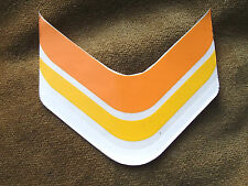COLOURED CHEVRON CYCLE FRAME DECAL STICKER APPROX 90mm X 80mm