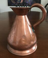 1900's KING GEORGE COPPER MEASURE HAYSTACK PITCHER Lead Stamp Seal Marked 1/16