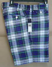 NWT $80 POLO RALPH LAUREN 32 Cotton MADRAS Shorts TARTAN Plaid SLIM GI 5856748