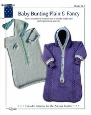 Easy Knit Baby Bunting, Plain & Fancy Design by Louise Knitting Pattern #1