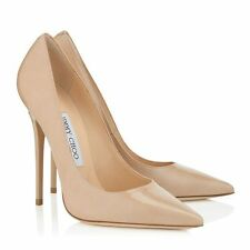 Jimmy Choo | Anouk | Nude Patent | UK 4 | EU 37 | RRP £395 | High Heel Shoes