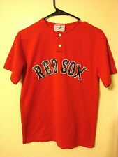 VTG. BOSTON RED SOX Jersey mens #11 TEAMWORK ATHLETIC MADE IN USA 2 BUTTON SMALL