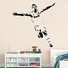 Cristiano Ronaldo Player Removable Wall Art Stickers DIY Vinyl Decals Kids Decor
