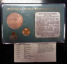Abraham Lincoln Bicentennial Set  Medal and Memorial Cent