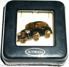 ATTWOOD & SAWYER 22ct GOLD PLATED/SWAROVSKI TAXI CAB BROOCH (#1) (New/Boxed/Sld)