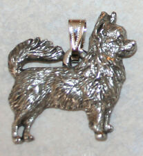 CHIHUAHUA Long Hair Dog Harris Fine Pewter Pendant USA Made