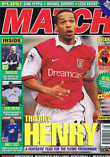 HENRY ARSENAL / BECKHAM / LEEDS / MUZZY IZZET Match July 15 2000