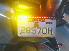 Tail Number Plate Bracket 5050 LED Strip Bar Light For Universal Motorcycles