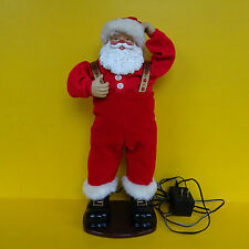 "1998 Original Jingle Bell Rock Santa Claus 16"" Musical Animated Hip Swinging"