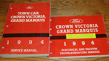 1994 Ford Crown Victoria Town Car Grand Marquis Shop Service Manual + EVTM Set