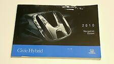 2010 HONDA CIVIC HYBRID NAVIGATION SYSTEM OWNERS MANUAL USER GUIDE V4 1.3L OEM