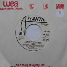 ABBA Does your mother know / Kisses of fire NM- CANADA PROMO 45 ATLANTIC AT 3574