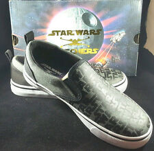 NEW STAR WARS SKECHERS Size 3 KIDS Boys Logo Tossers Padawan Slip on Shoes NIB