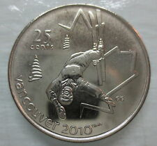 2008 CANADA 25¢ OLYMPIC FREESTYLE SKIING BRILLIANT UNCIRCULATED QUARTER