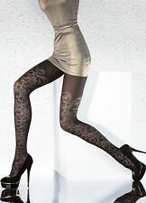 Fiore tights Goldia fashion 40 den pantyhose - S, M, L - floral design