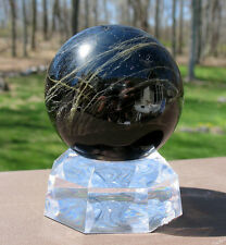 Black & Green Tourmaline Sphere / Crystal Ball ~ Madagascar