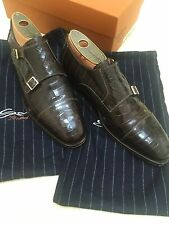 SANTONI Goodyear Crocodile Shoes, Size 9.5 $7500