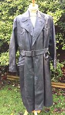 GERMAN 1940's/1950's MANS GREAT COAT IN  LEATHER,FULL LENGTH VINTAGE.