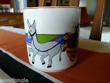 LUBIANA POLAND Porcelain COFFEE CUP CLOWN MONKEY DOLPHINS DONKEY CIRCUS Vintage