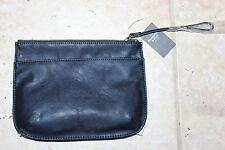 NWT Abercrombie & Fitch Womens Blue Wristlet Passport Holder Purse