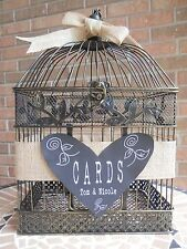 Wedding Card Holder, Birdcage, Burlap Card Holder, Chalkboard, Wedding Supplies
