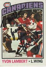 YVON LAMBERT SIGNED 1976-77 TOPPS #232 - MONTREAL CANADIENS