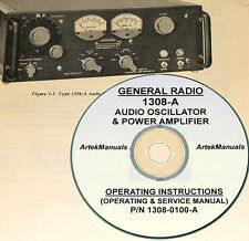 General Radio 1308-A Audio Oscillator & Amplifier, Manual, Operating & Service