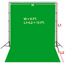 9 x13 FT. Green Photography Backdrop Photo Stand Background Support Muslin Kit
