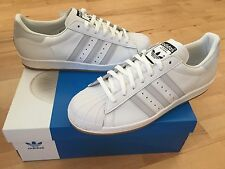 ADIDAS Superstar Reflective Mens Trainers, White/Gum - Size 11